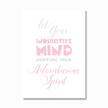 Inquisitive mind girls print