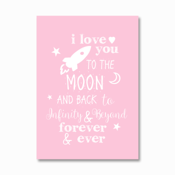 I love you to the moon and back girls print
