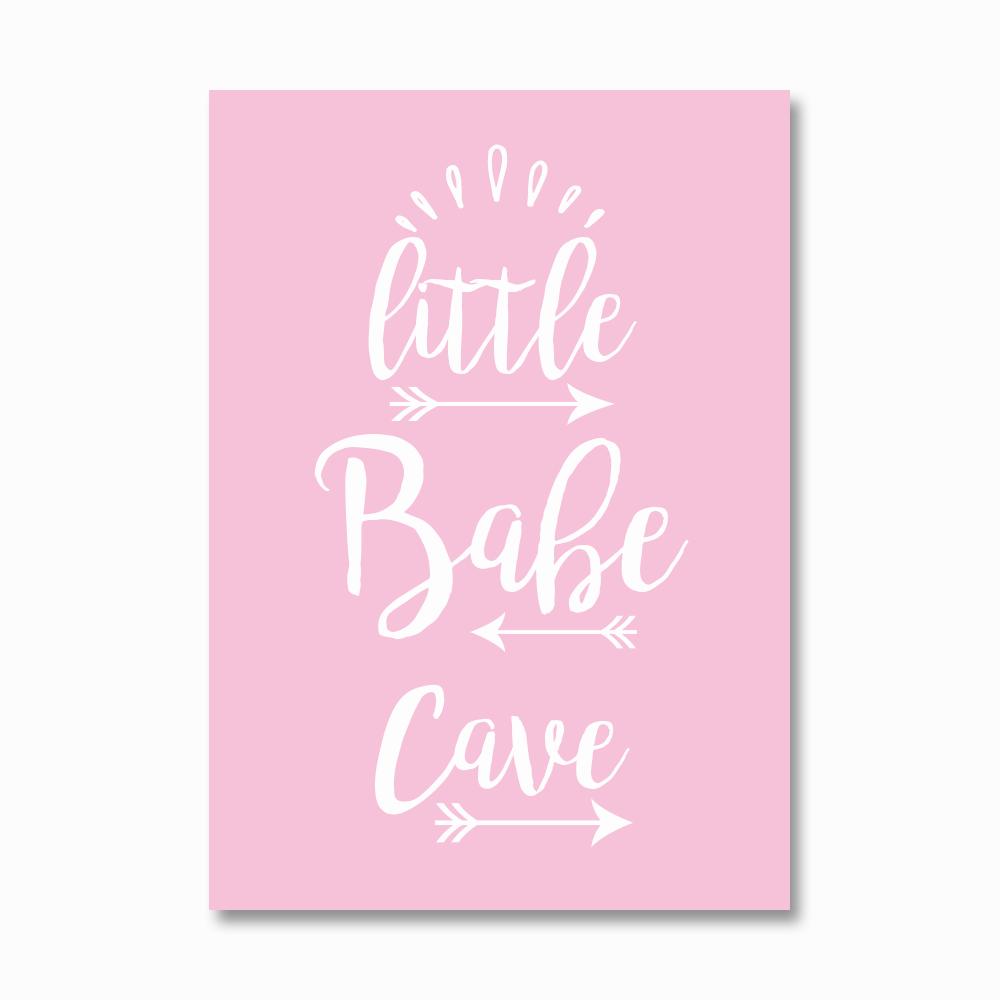 Little babe cave print