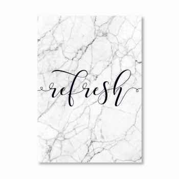 Refresh Marble Print