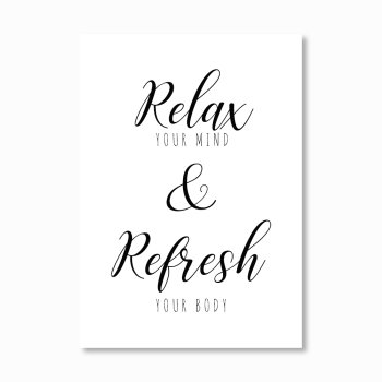 Relax and Refresh print