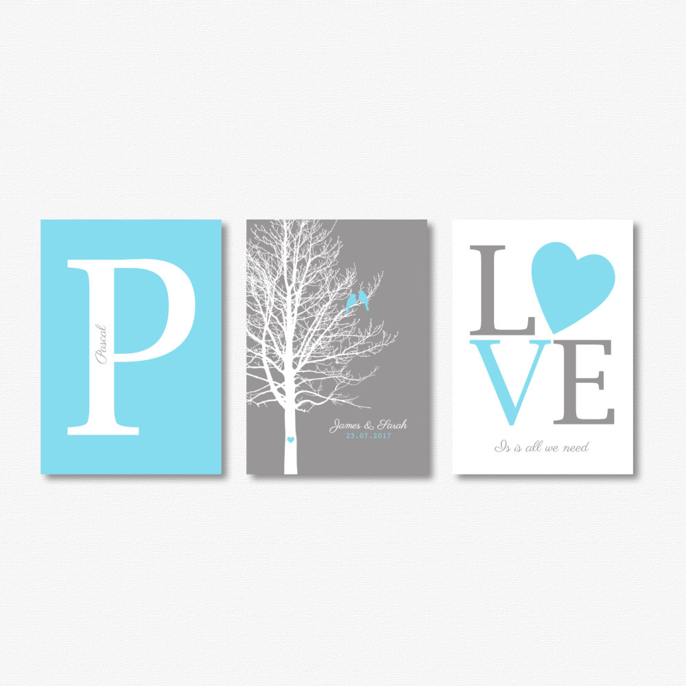 3pc Couple Print Set