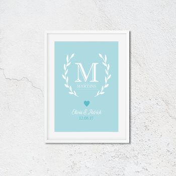 Couple Monogram Print