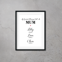 My Greatest Blessings Call Me Mum Print