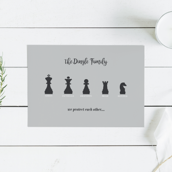 Chess Piece Family Print