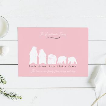 Bears Family Print