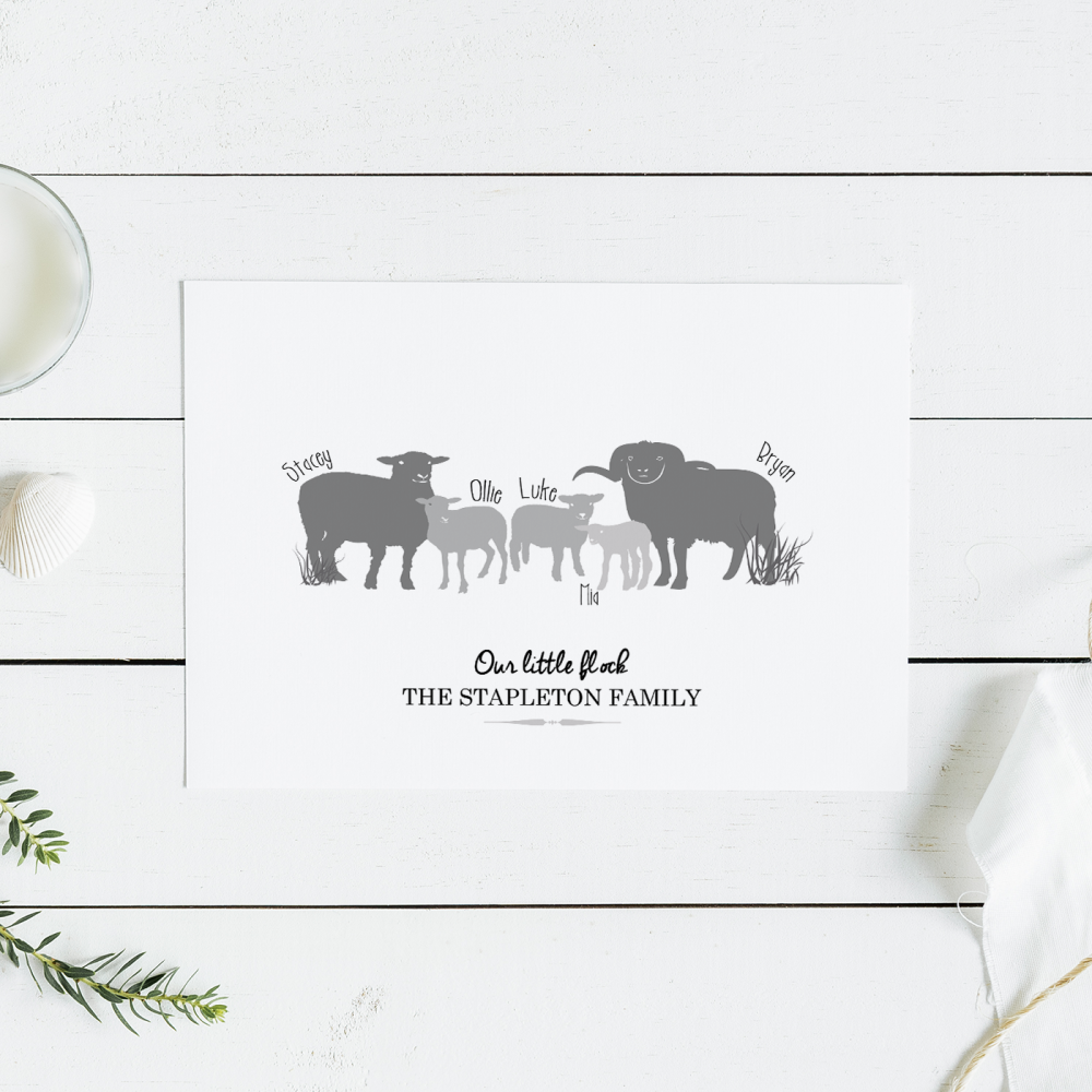 Sheep Family Print