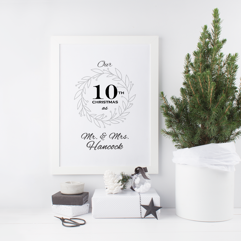 10th Christmas as Mr and Mrs Print