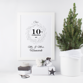 Anniversary Christmas Mr and Mrs Print