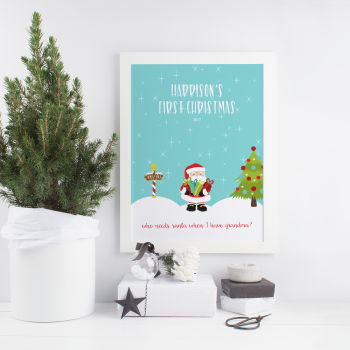 Personalised Baby's First Christmas Print