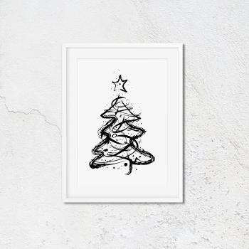 Minimalist Christmas Tree Print