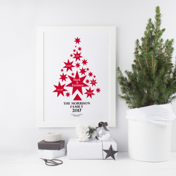 Personalised Christmas with the Family Print
