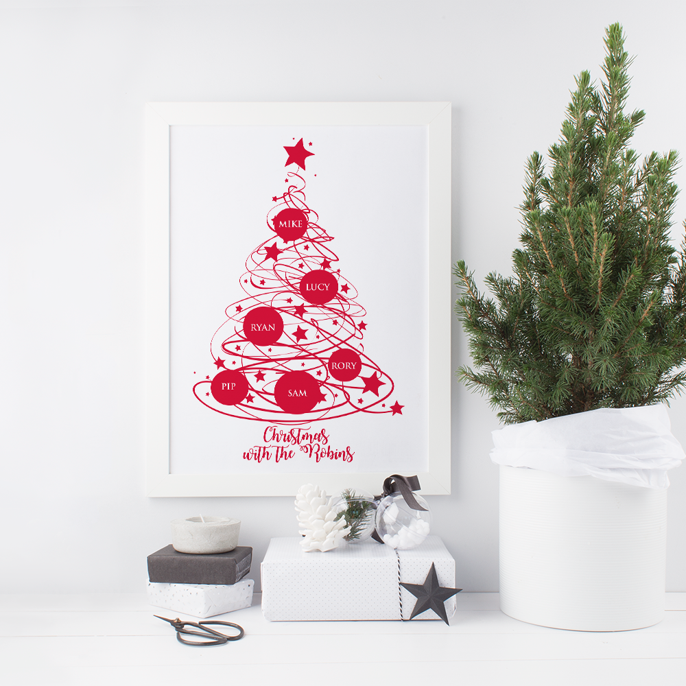 Christmas Tree Family Print
