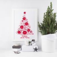 Christmas Tree Family Print