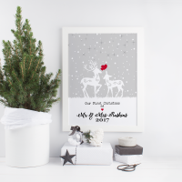 Our First Christmas as a Married Couple Print