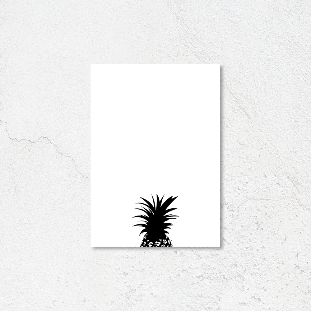 Pineapple top print
