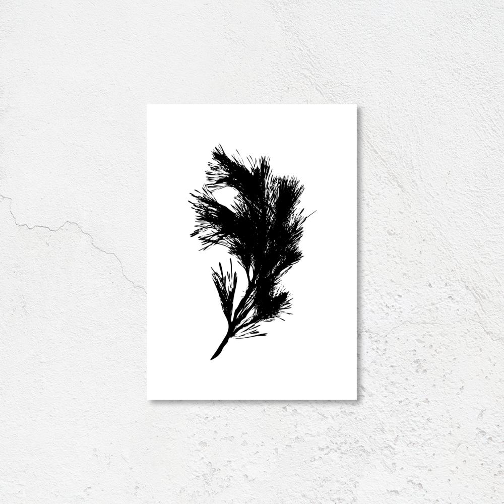 Minimilast leaf print