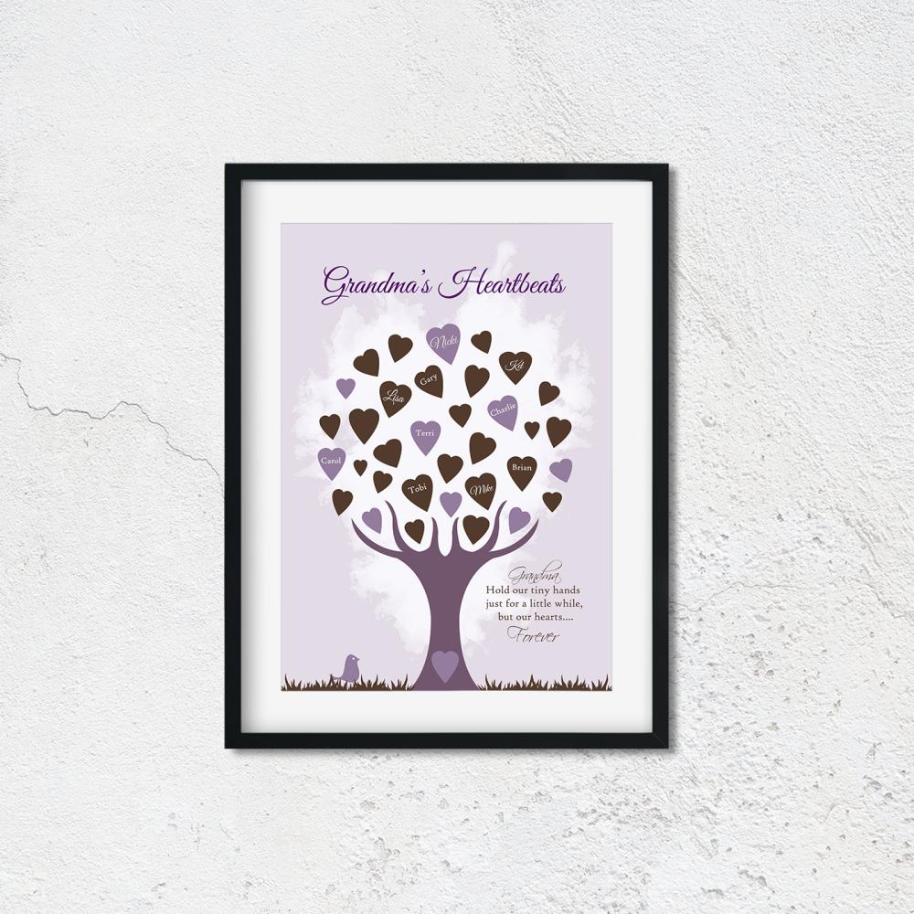 Grandma Heartbeats Print