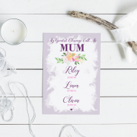 My Greatest Blessings Call Me Mum floral Print
