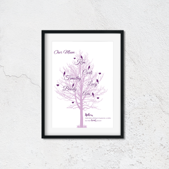 Our Mum Family Tree Print