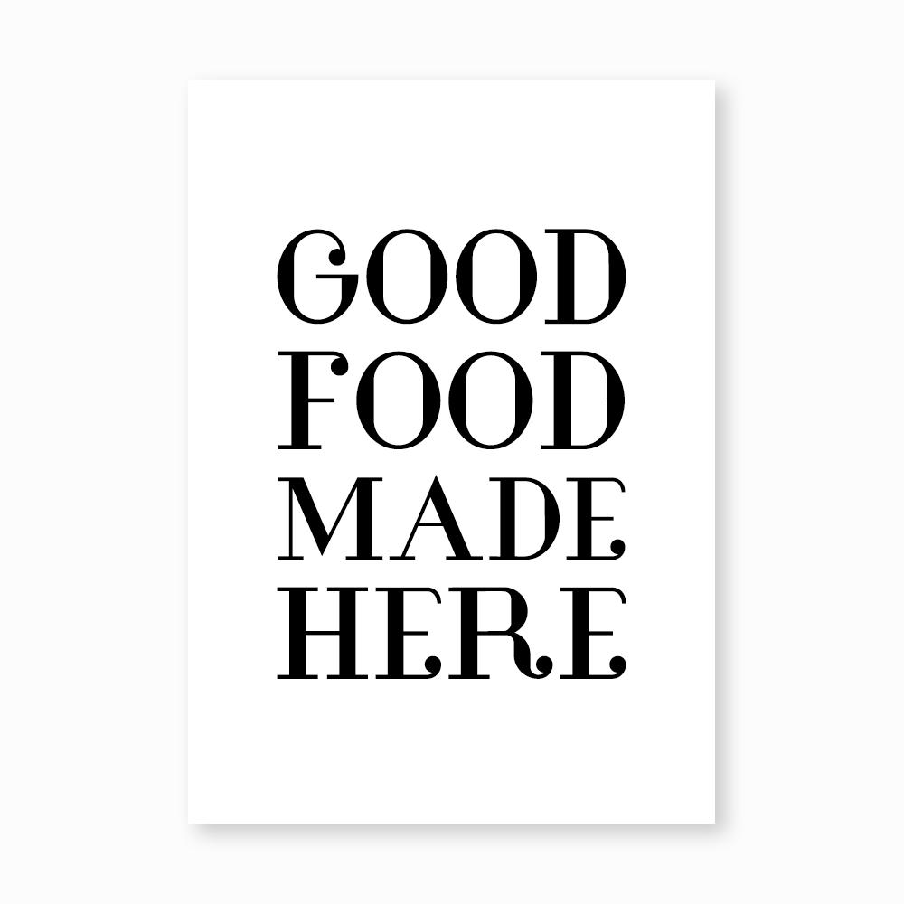 Good Food print