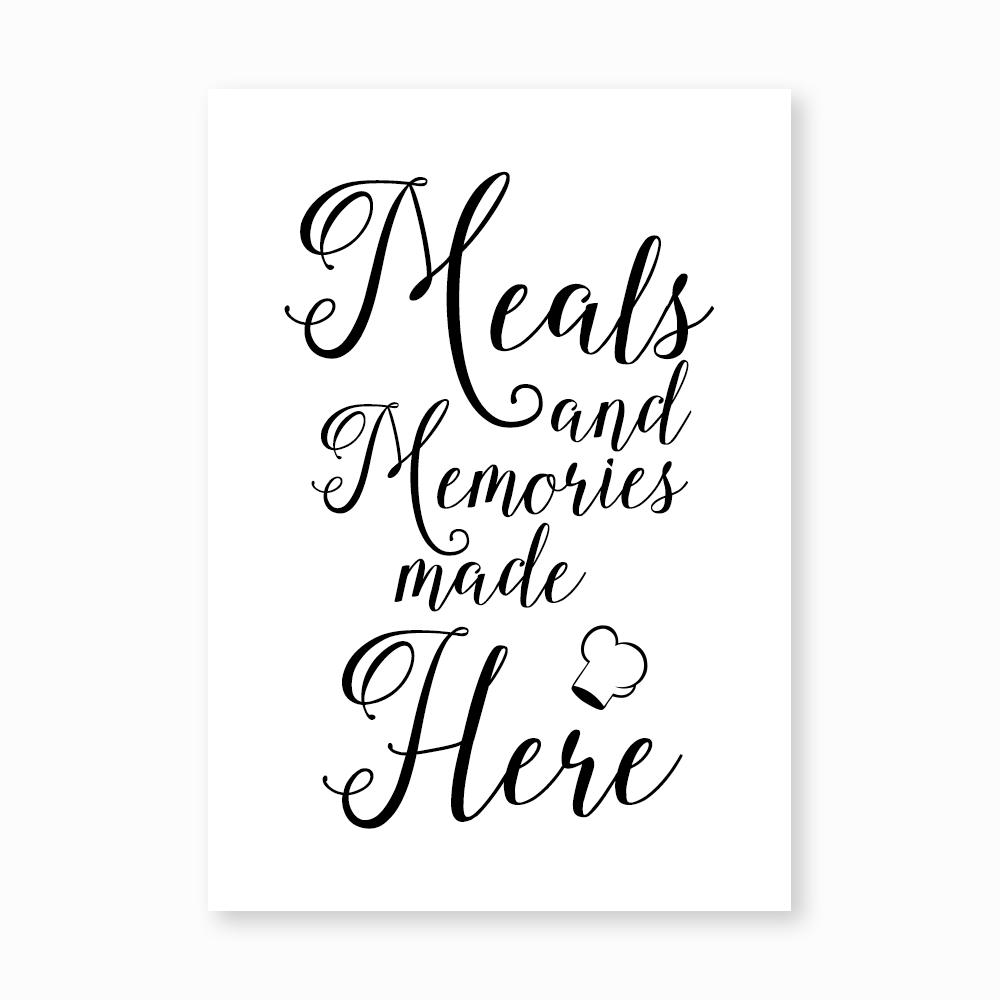 Meals and memories print