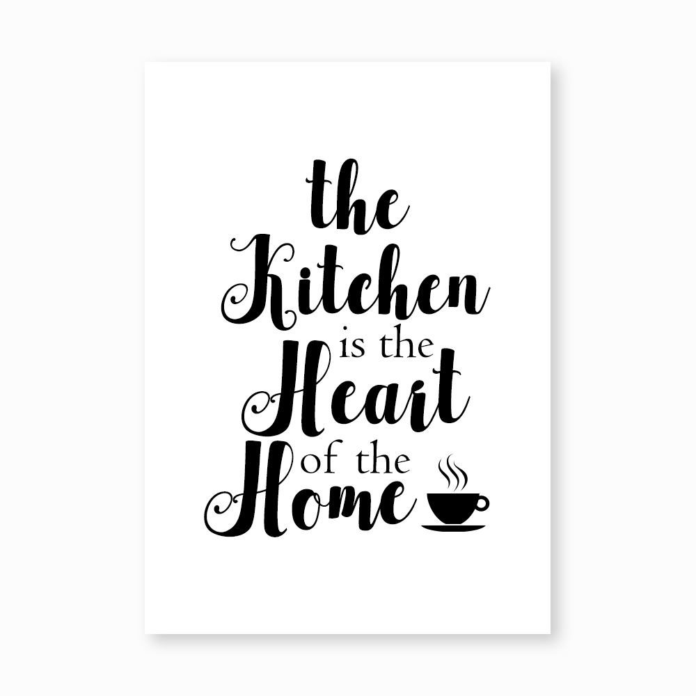 The Kitchen is the heart print