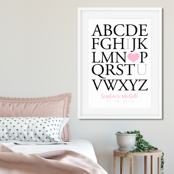 I love you couple alphabet print