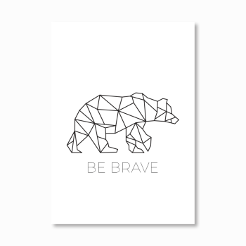 Geometric Bear Print