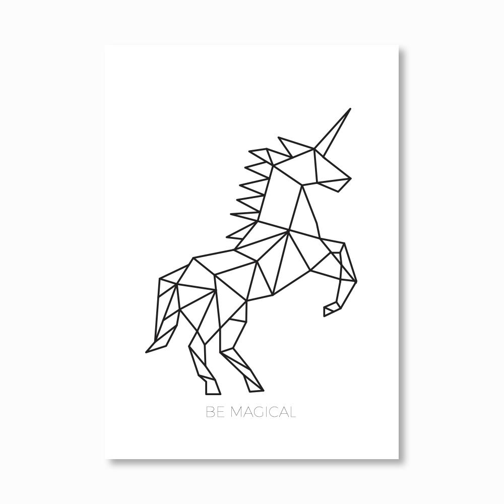 Geometric Unicorn Print