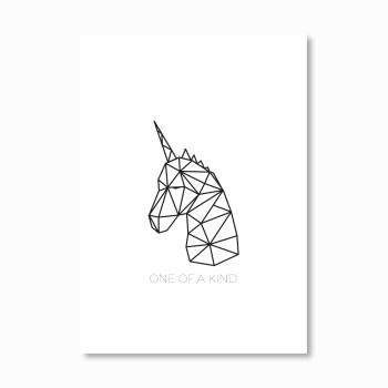 Geometric Unicorn head Print