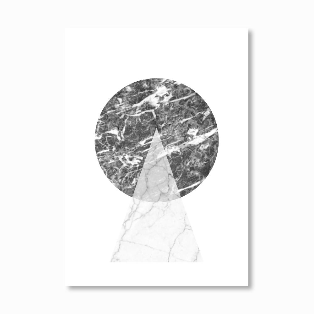 Geometric Marble Circle Print