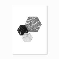 Geometric Marble Hexagon Print