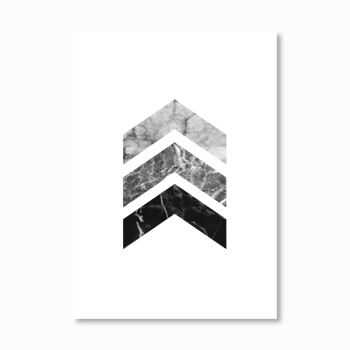Geometric Marble Arrows Print