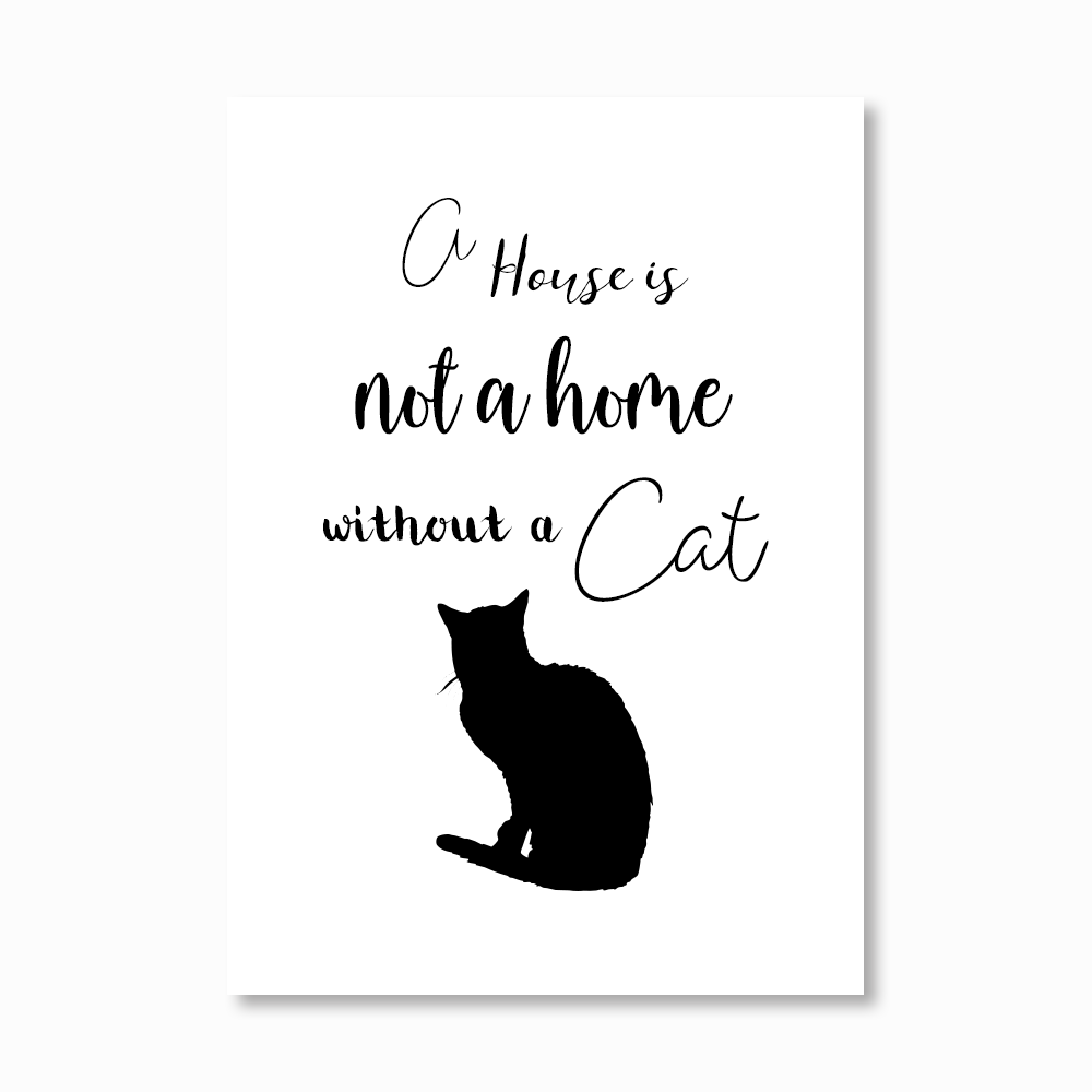 A house without a cat Print