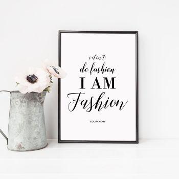 I don't do fashion Print