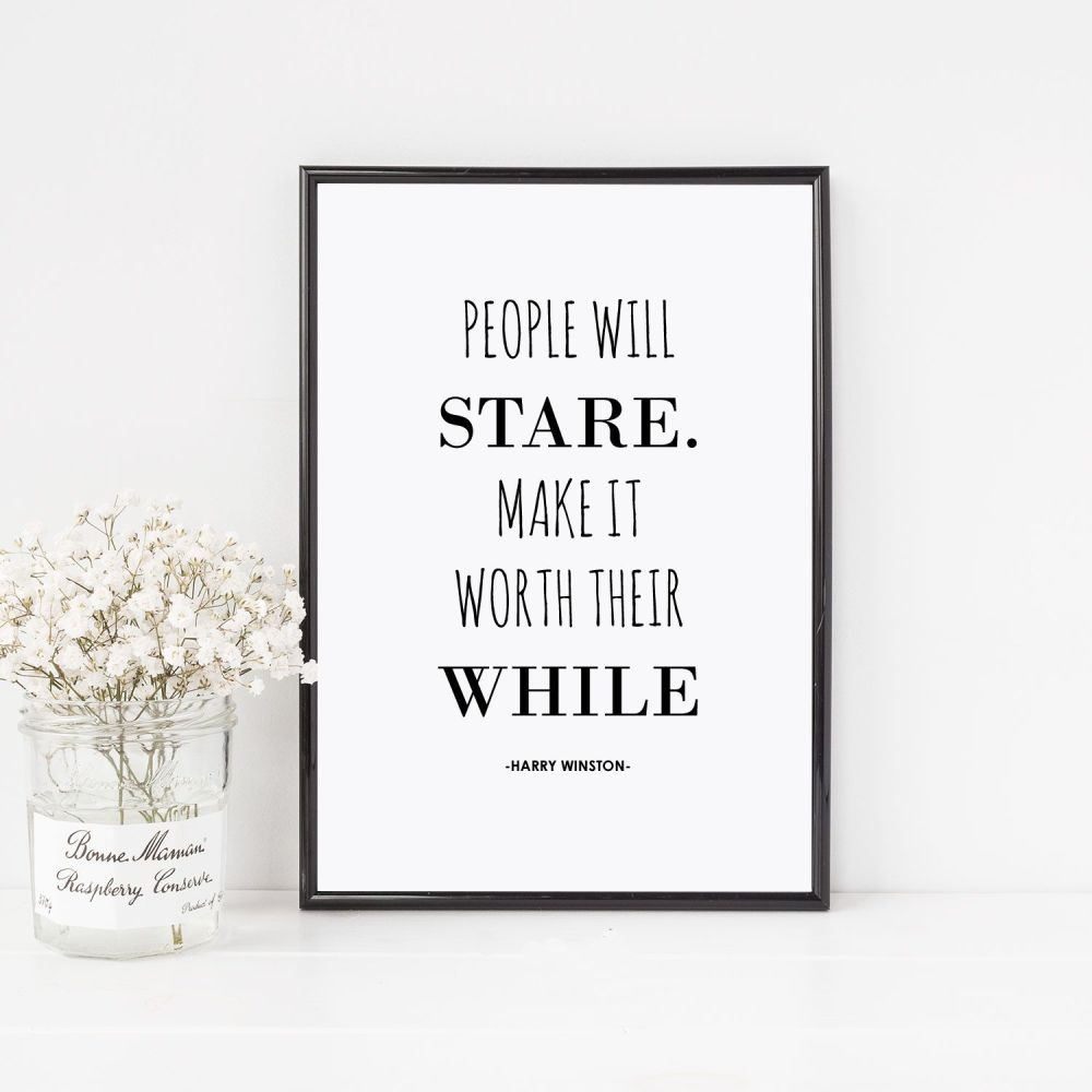 People will stare Print