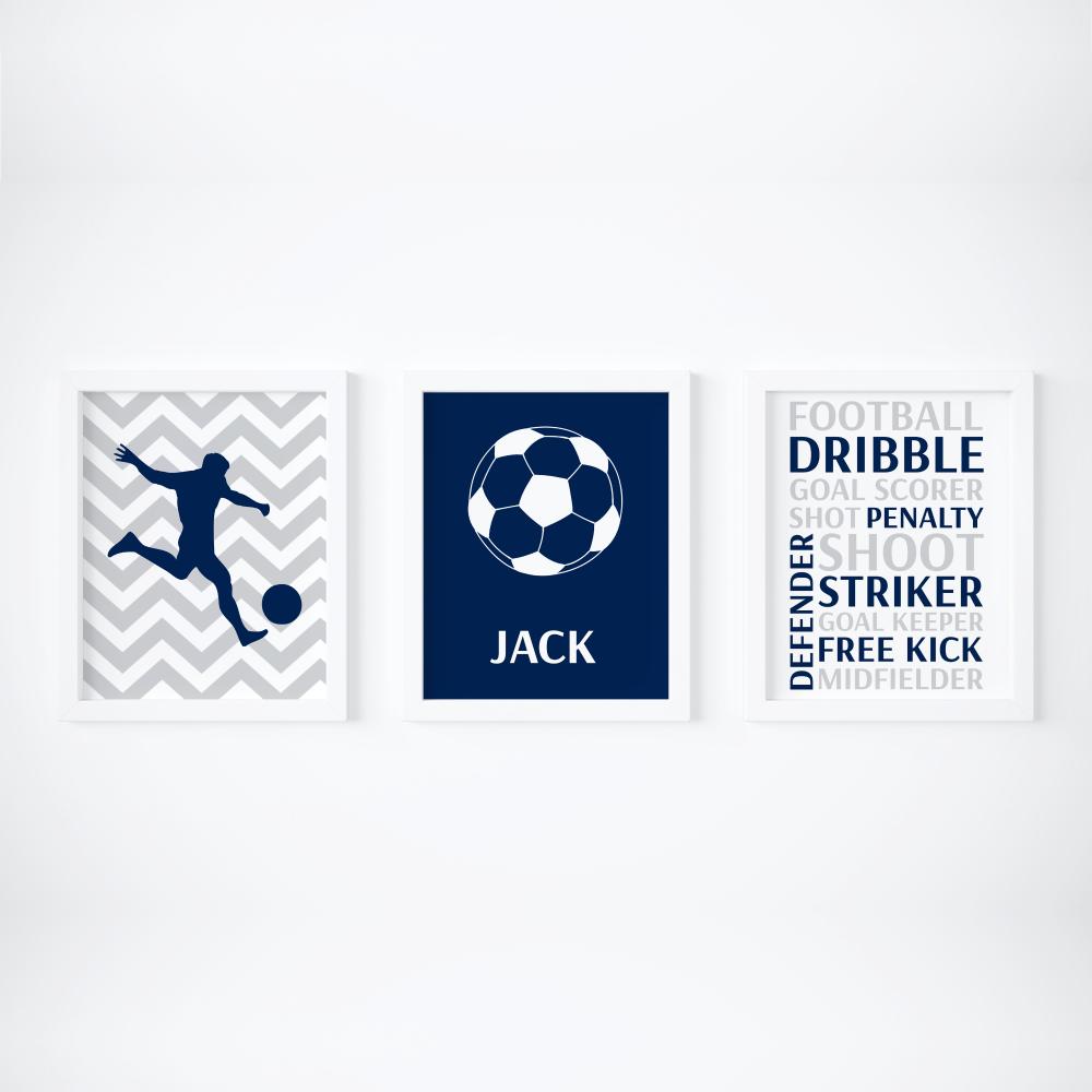 Set of 3 Football themed Prints
