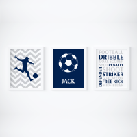 Set of 3 Football themed Prints