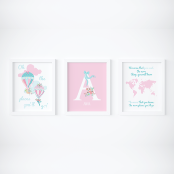 Set of 3 Oh the places you will go prints