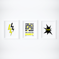 Set of 3 Superhero Prints