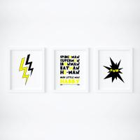 Set of 3 Superhero Prints