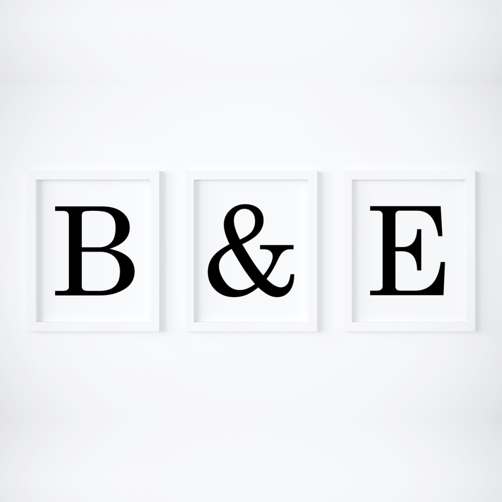 Set of 3 Initial prints