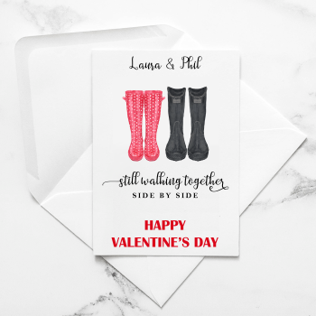 Welly Boots Valentine's Card