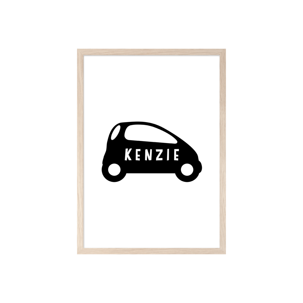 Boys Personalised Car print