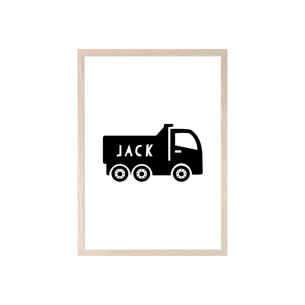 Boys Personalised Truck print