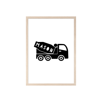 Boys Personalised Mixer Truck print