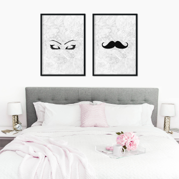 Bon Eyebrow And Moustache Prints