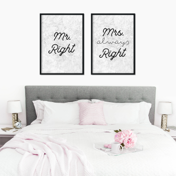 Mr and Mrs Right Prints
