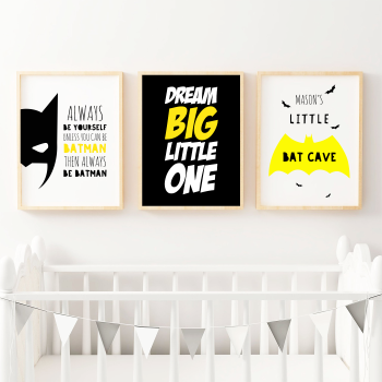 Set of 3 Super Hero Wall Prints
